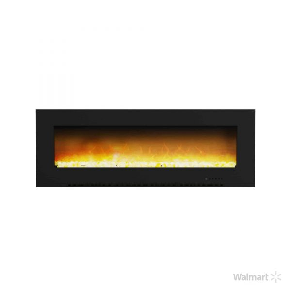 "Cambridge Metropolitan Wall Mount Electric Fireplace Heater, 56"" 3"