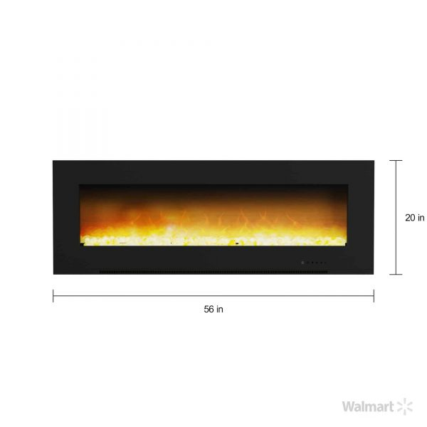 "Cambridge Metropolitan Wall Mount Electric Fireplace Heater, 56"" 5"