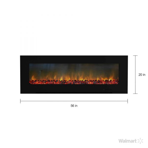 "Cambridge Metropolitan Wall Mount Electronic Fireplace, 56"" 2"
