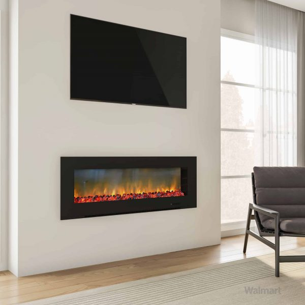 "Cambridge Metropolitan Wall Mount Electronic Fireplace, 56"" 3"