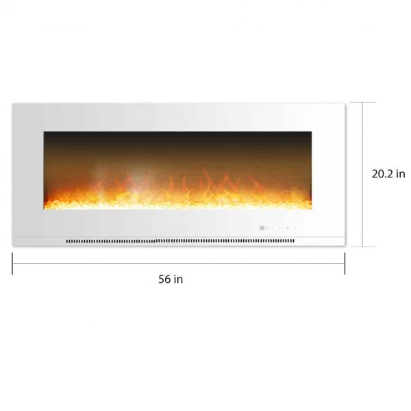 Cambridge Metropolitan Wall Mounted Fireplace Heater 2