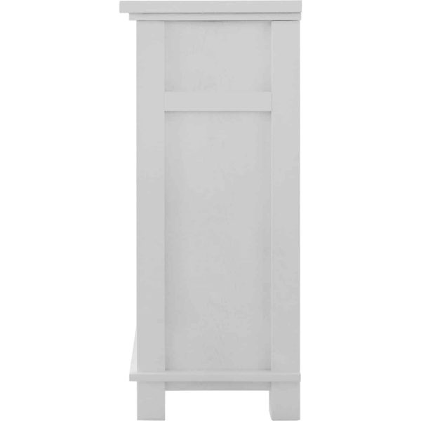 """Cambridge San Jose Fireplace Entertainment Stand in White with 50"""" Color-Changing Fireplace Insert and Driftwood Log Display 5"""