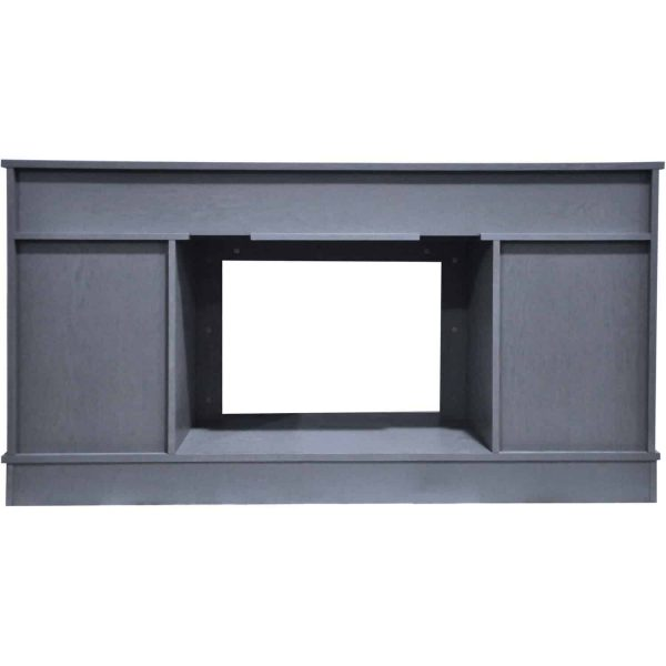 Cambridge Savona 59 In. Electric Fireplace in Slate Blue with Entertainment Stand and Charred Log Display 4