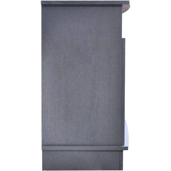 Cambridge Savona 59 In. Electric Fireplace in Slate Blue with Entertainment Stand and Enhanced Log Display 9