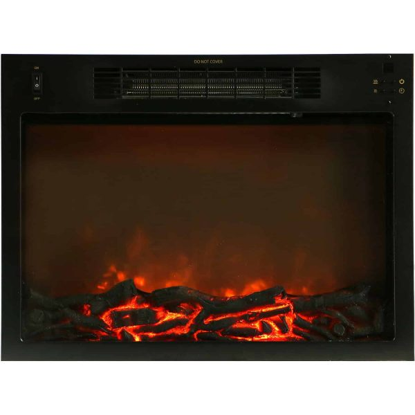 "Cambridge Sienna 34"" Electric Fireplace Mantel Heater with Charred Log Display 1"