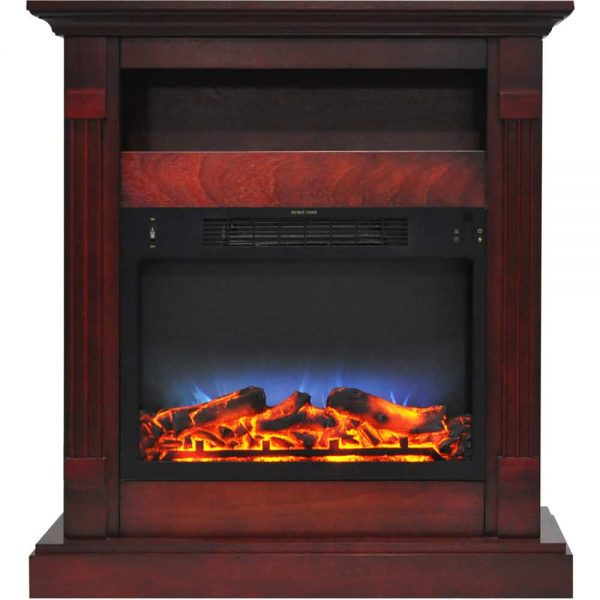 "Cambridge Sienna 34"" Electric Fireplace Mantel Heater with Multi-Color LED Flame Display 1"