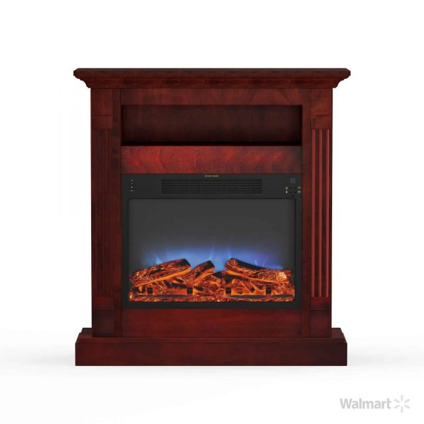 "Cambridge Sienna 34"" Electric Fireplace Mantel Heater with Multi-Color LED Flame Display 10"