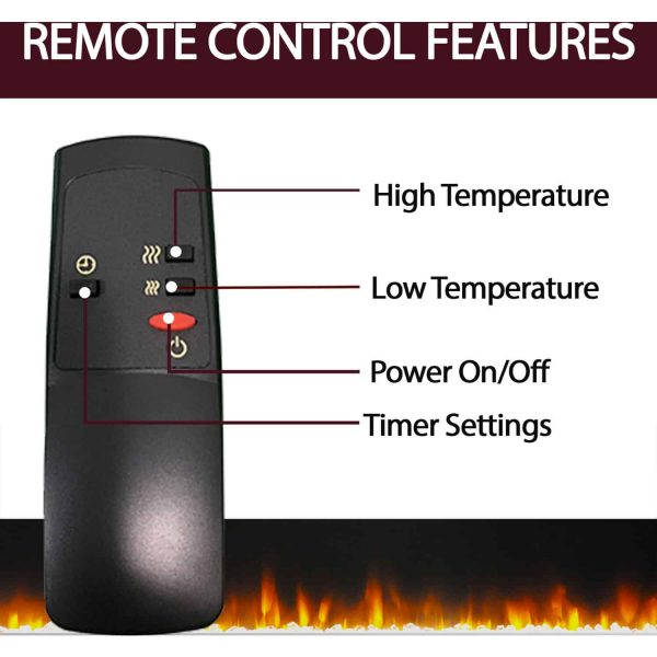 "Cambridge Sienna 34"" Electric Fireplace Mantel Heater with Multi-Color LED Flame Display 4"