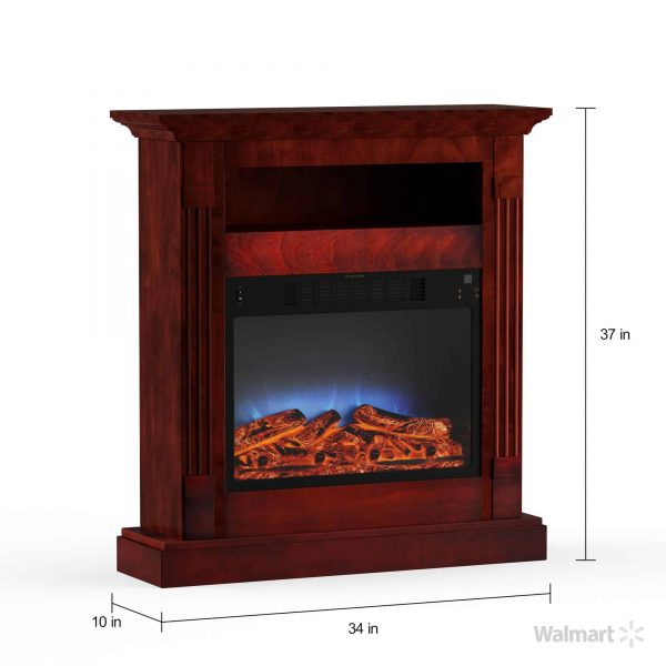 "Cambridge Sienna 34"" Electric Fireplace Mantel Heater with Multi-Color LED Flame Display 7"
