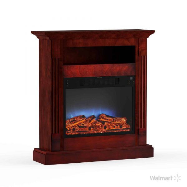 "Cambridge Sienna 34"" Electric Fireplace Mantel Heater with Multi-Color LED Flame Display 8"