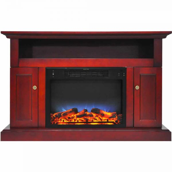 """Cambridge Sorrento Electric Fireplace Heater with 47"""" Entertainment Stand and Multi-Color LED Flame Display 1"""