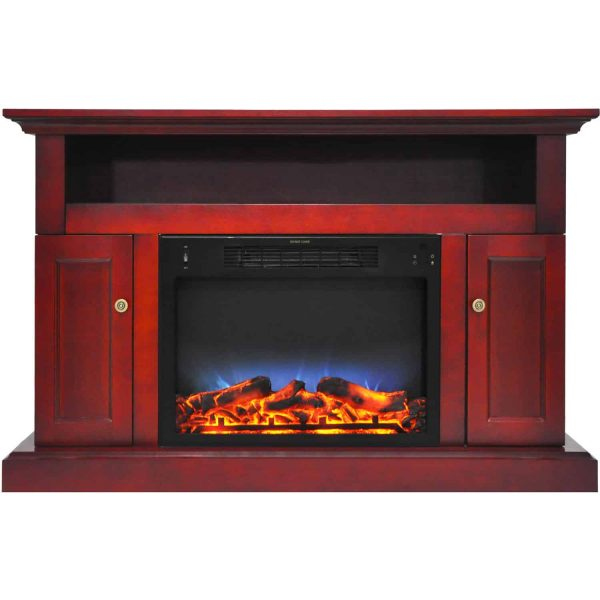 """Cambridge Sorrento Electric Fireplace Heater with 47"""" Entertainment Stand and Multi-Color LED Flame Display"""