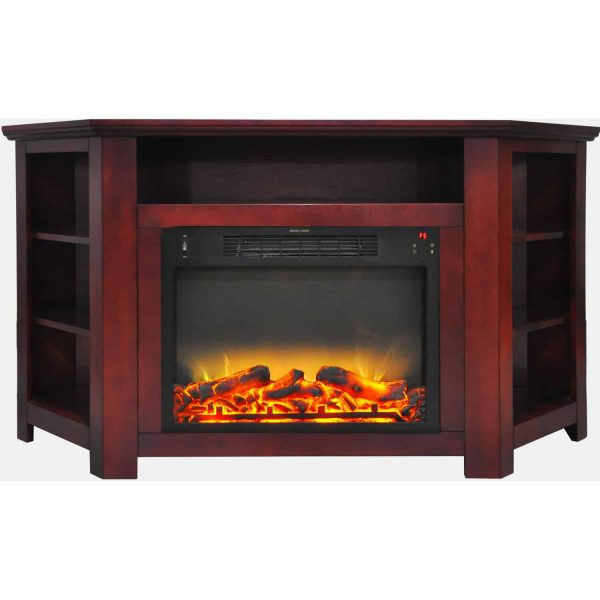 """Cambridge Stratford 56"""" Electric Corner Fireplace Heater with Enhanced Log and Grate Display 8"""