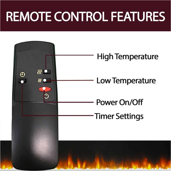 "Cambridge Stratford 56"" Electric Corner Fireplace Heater with LED Multi-Color LED Flame Display 6"