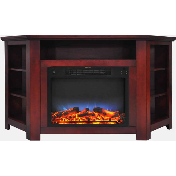 "Cambridge Stratford 56"" Electric Corner Fireplace Heater with LED Multi-Color LED Flame Display 8"
