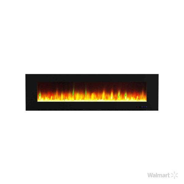 """Cambridge Wall Mount Electric Fireplace Heater, 72"""" 11"""