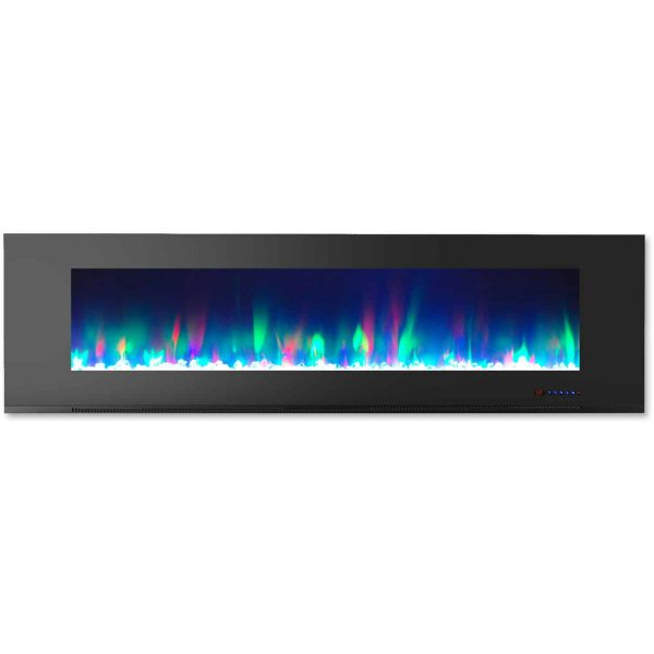 """Cambridge Wall Mount Electric Fireplace Heater, 72"""" 1"""