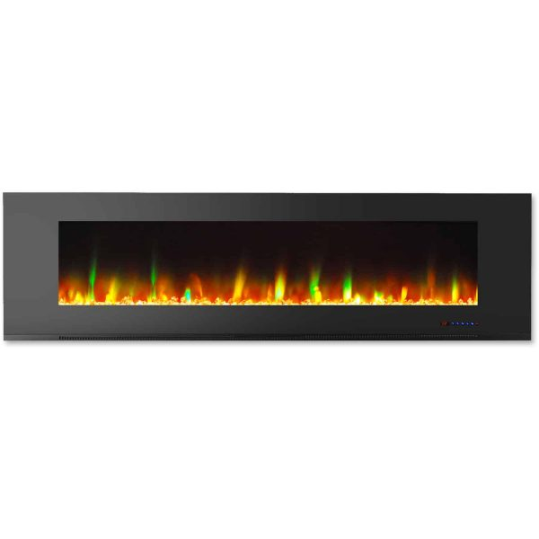 """Cambridge Wall Mount Electric Fireplace Heater, 72"""" 2"""