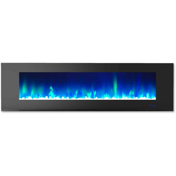"""Cambridge Wall Mount Electric Fireplace Heater, 72"""" 3"""