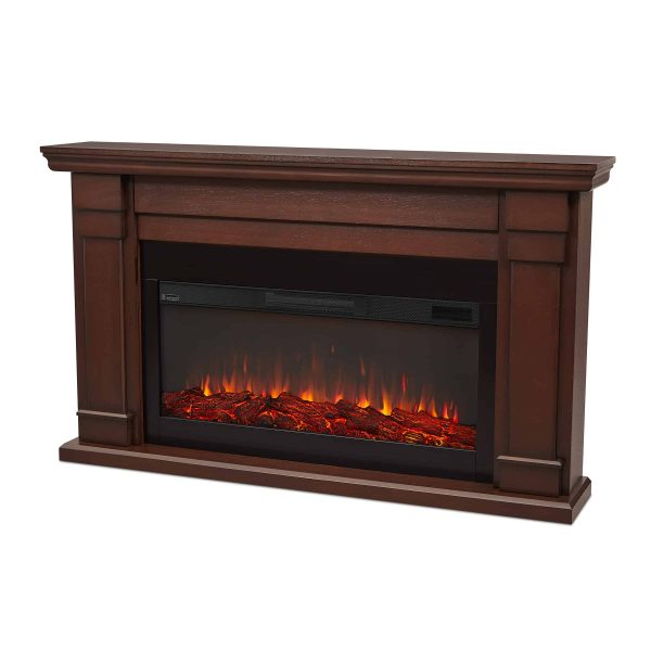 Carlisle Electric Fireplace in Chestnut Oak by Real Flame 1