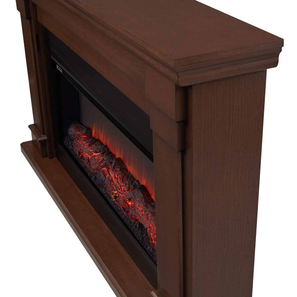 Carlisle Electric Fireplace in Chestnut Oak by Real Flame 2