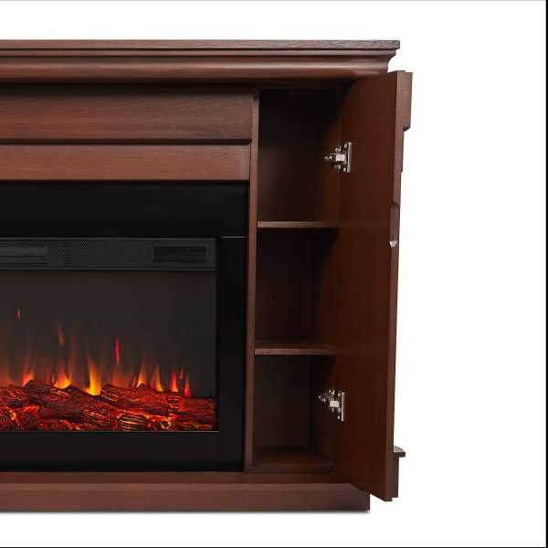 Carlisle Electric Fireplace in Chestnut Oak by Real Flame 3