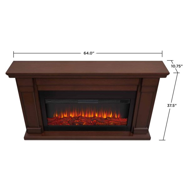 Carlisle Electric Fireplace in Chestnut Oak by Real Flame 4