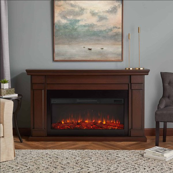 Carlisle Electric Fireplace in Chestnut Oak by Real Flame