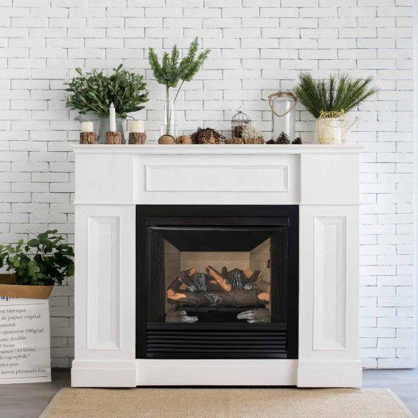 "Cedar Ridge Hearth 24"" Decorative Realistic Fireplace Ceramic Wood Log Set - Model CRHED24RT-D 1"
