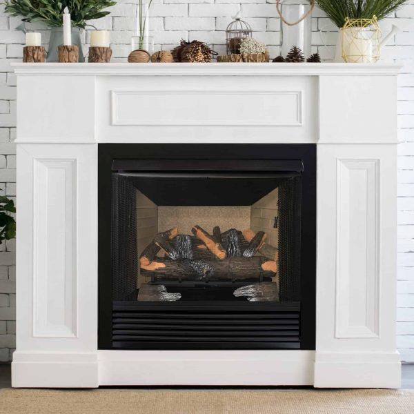 "Cedar Ridge Hearth 24"" Decorative Realistic Fireplace Ceramic Wood Log Set - Model CRHED24RT-D 2"
