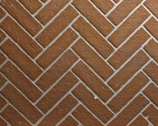 Ceramic Fiber Liner for Deluxe Fireplaces - Herringbone Brick