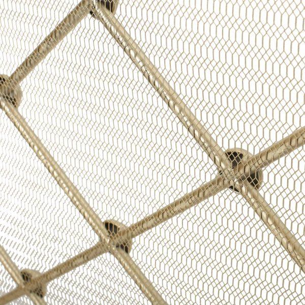 Chamberlain 3 Panelled Iron Fireplace Screen, Gold 3
