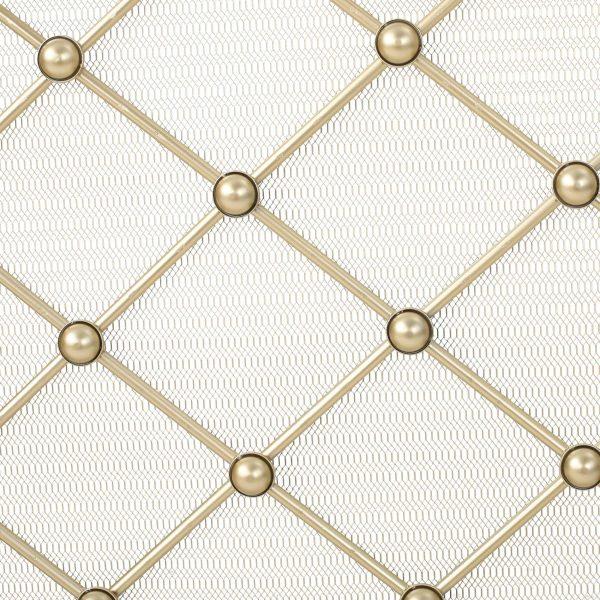 Chamberlain 3 Panelled Iron Fireplace Screen, Gold 4