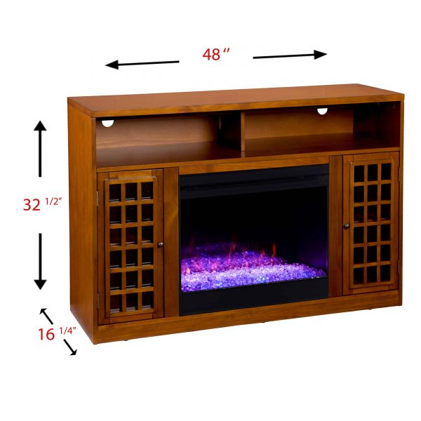Chaneault Color Changing Media Fireplace w/ Storage 3