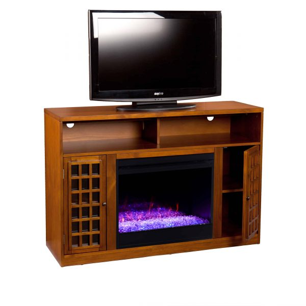 Chaneault Color Changing Media Fireplace w/ Storage 4