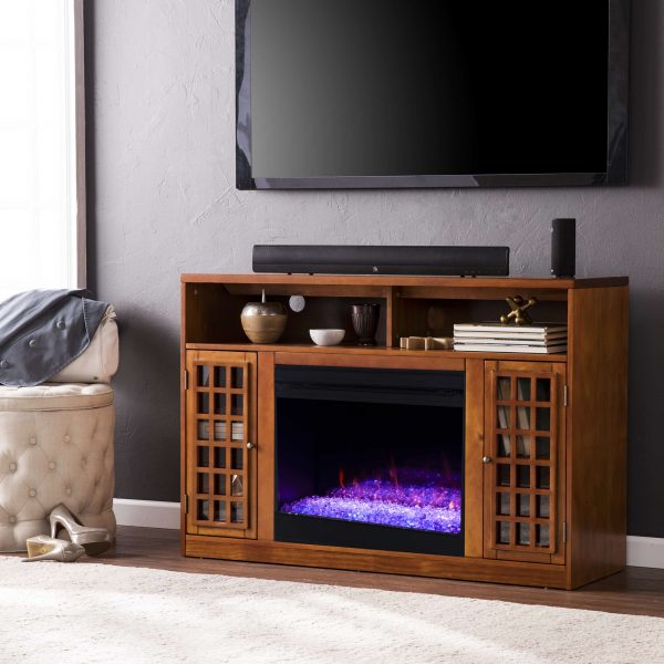 Chaneault Color Changing Media Fireplace w/ Storage