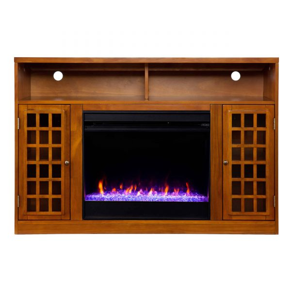 Chaneault Color Changing Media Fireplace w/ Storage 7