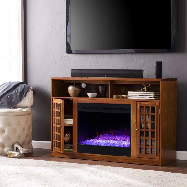 Chaneault Color Changing Media Fireplace w/ Storage 8