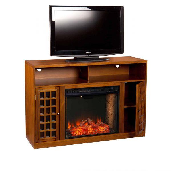 Chaneault Smart Media Fireplace w/ Storage 1