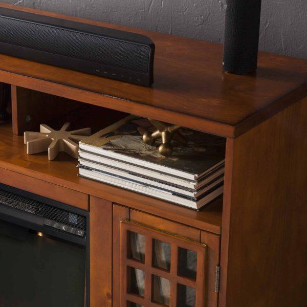 Chaneault Smart Media Fireplace w/ Storage 2