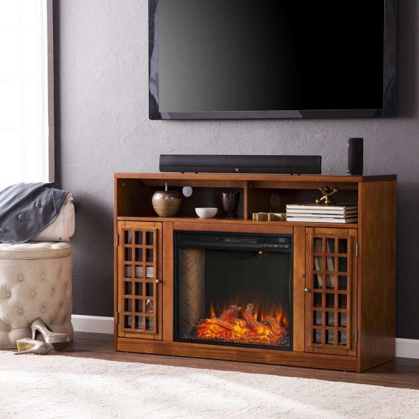 Chaneault Smart Media Fireplace w/ Storage 4