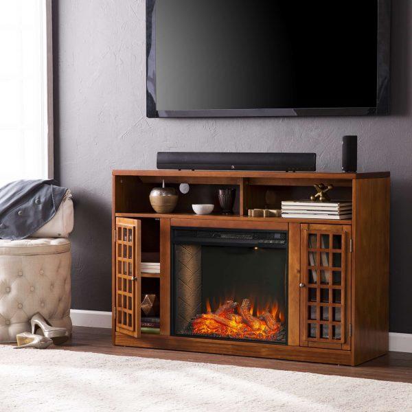 Chaneault Smart Media Fireplace w/ Storage