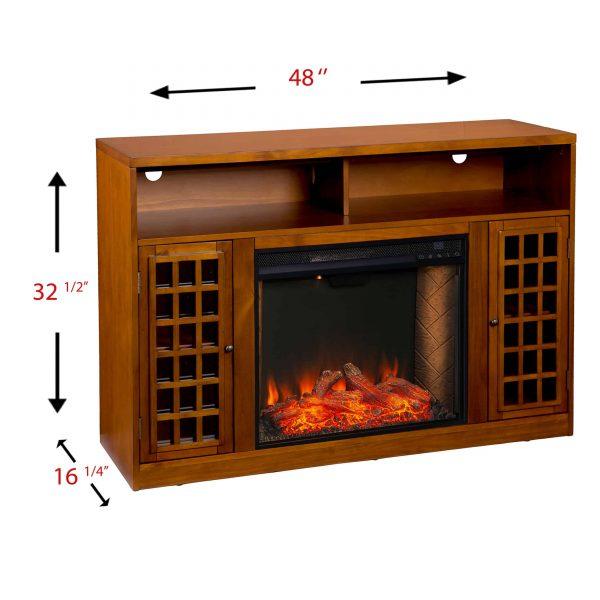 Chaneault Smart Media Fireplace w/ Storage 8