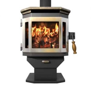 Charcoal Catalyst Wood Stove w/SS Door