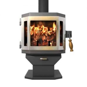 Charcoal Catalyst Wood Stove with SS Door and Room Blower Fan