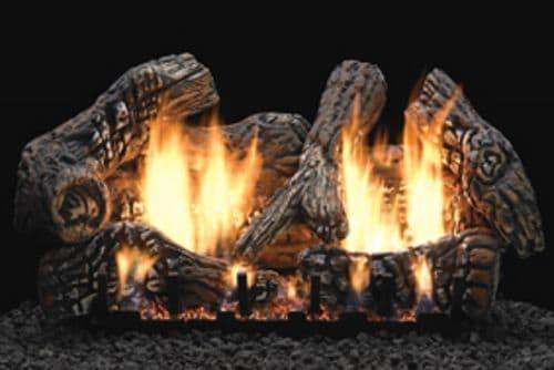 "Charred Oak 24"" Super Size Ceramic Fiber 6 Piece Log Set"
