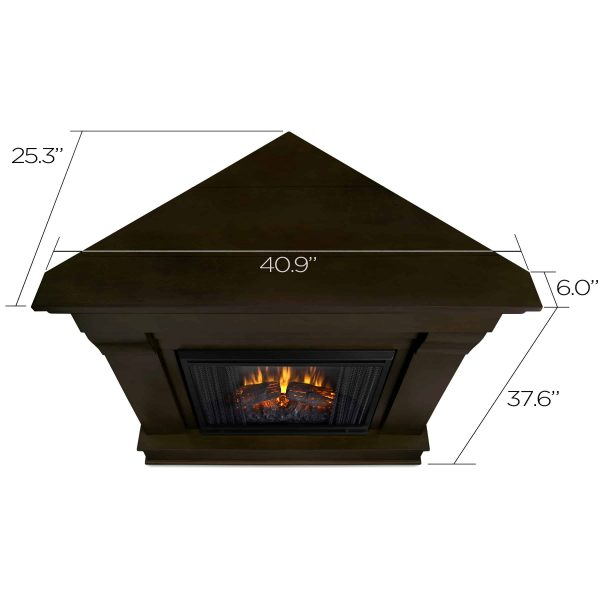 Chateau Corner Electric Fireplace in Dark Walnut by Real Flame 2