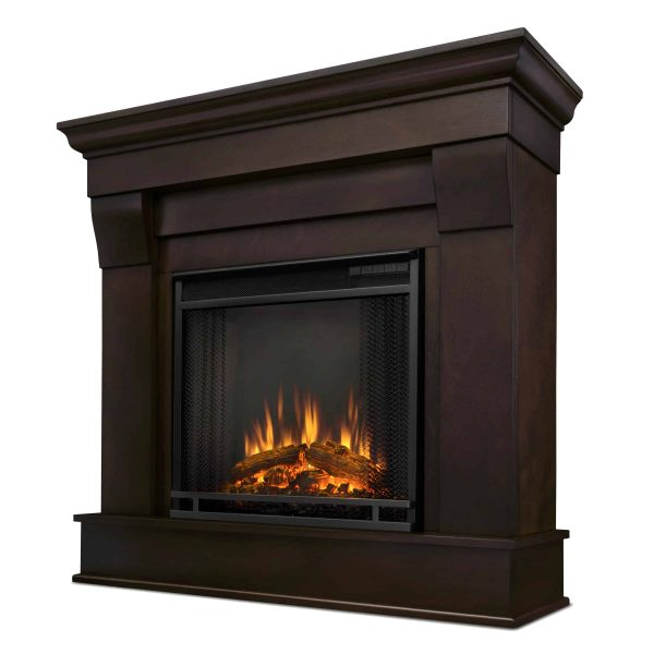 Chateau Electric Fireplace in Dark Walnut by Real Flame 2