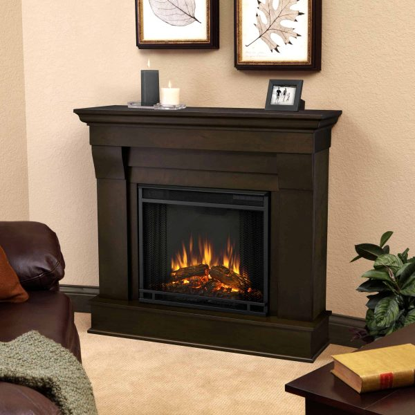 Chateau Electric Fireplace in Dark Walnut by Real Flame