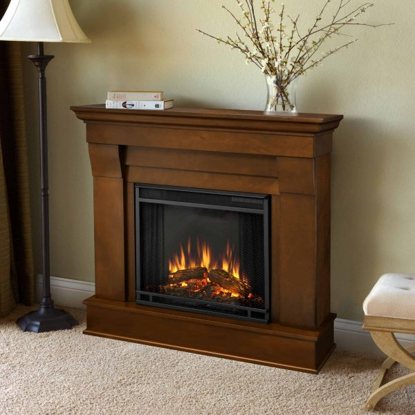 Chateau Electric Fireplace in Espresso by Real Flame